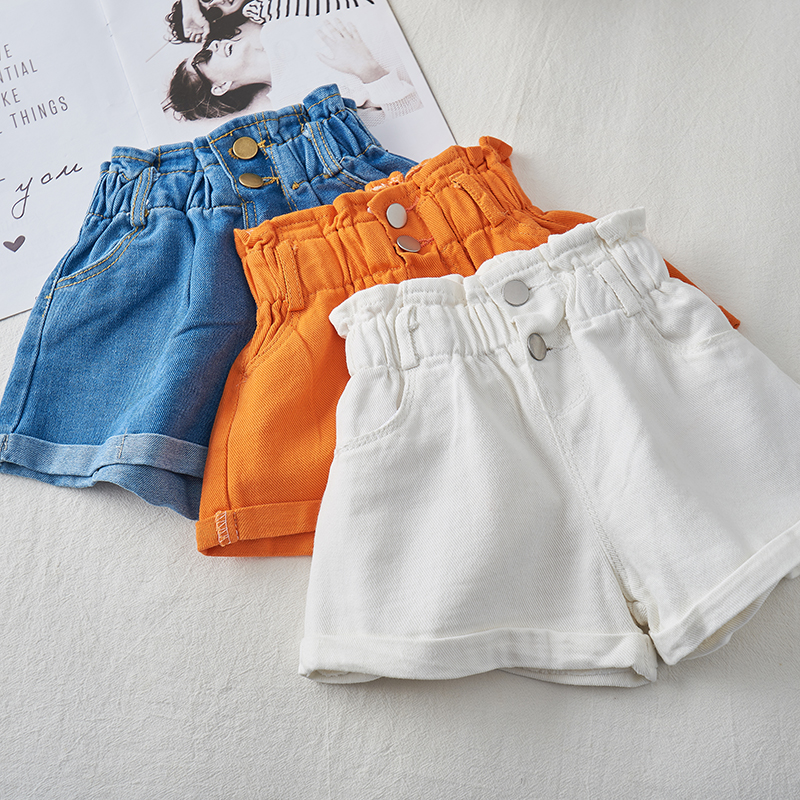 2020 Girl Summer  Kids Children Fashion Hot Jeans Denim Shorts Three Colors 1