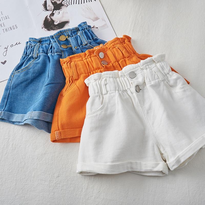 2020 Girl Summer  Kids Children Fashion Hot Jeans Denim Shorts Three Colors 1