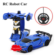 RC Car 1:22 Collision Transformer RC Robot Car Wireless Remote Control Deformation Robots Models toy For Kids Toy Gift(China)
