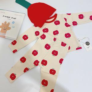 Image 5 - Bebê infantil conjunto de pijamas do bebê casa serviço pacote impressão roupa interior do bebê com chapéu recém nascido roupas da menina do bebê