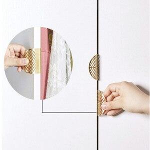 Hohl-out griff messing blatt unsichtbare keine punch schublade/schrank knob möbel ziehen für schrank küche bad hardware