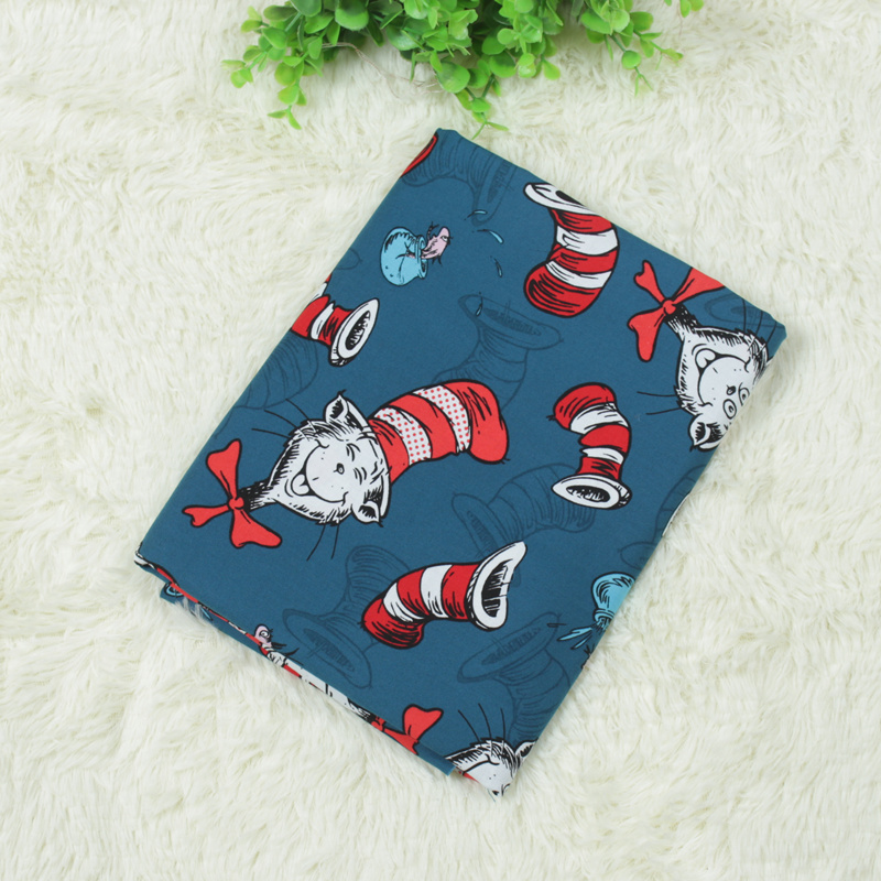 DIY Sewing Pure Cotton Plain Fabric Cartoon Printed Cotton Plain Fabric By meters For DIY Patchwork Quilting Dress For Child Kid in Fabric from Home Garden