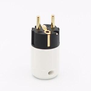 Image 1 - 2 cái Mạ Vàng 24K Schuko Nam Cắm HIFI EU Cắm Điện HIFI