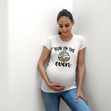 Shirt Mom Maternity-Shirts Bun-In-The-Oven Pregnancy-Gift Funny