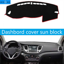 For Hyundai Tucson 3rd 2016 2017 2018 Car Dashboard Cover  Auto Dash Mat Dashboard Pad Carpet Anti-UV Anti-slip Anti-Sun car dashboard cover for toyota noah voxy 2014 2019 right hand drive auto sun shade dash mat dash pad carpet anti uv non slip 1pc