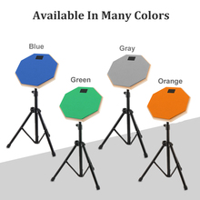 Dumb Drums 8 Inch Rubber Wooden Dumb Drum Practice Training Drum Pad with Stand 4Colors Optional 10 inch dumb drum practice jazz drums exercise training abs drum pad with drum sticks and
