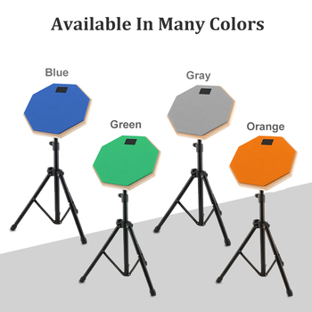 Dumb Drums 8 Inch Rubber Wooden Dumb Drum Practice Training Drum Pad with Stand 4Colors Optional dp 850 practice drum pad lightweight and portable design cherub