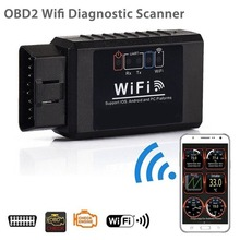 Wi-Fi OBDII сканер считыватель кодов автомобиля OBD2 диагностический инструмент Поддержка всех автомобилей OBD II для iOS и Android ПК