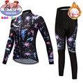 2020 Профессиональная детская зимняя теплая флисовая велосипедная футболка  комплект MTB  велосипедная Одежда для девочек  теплая велосипедна...