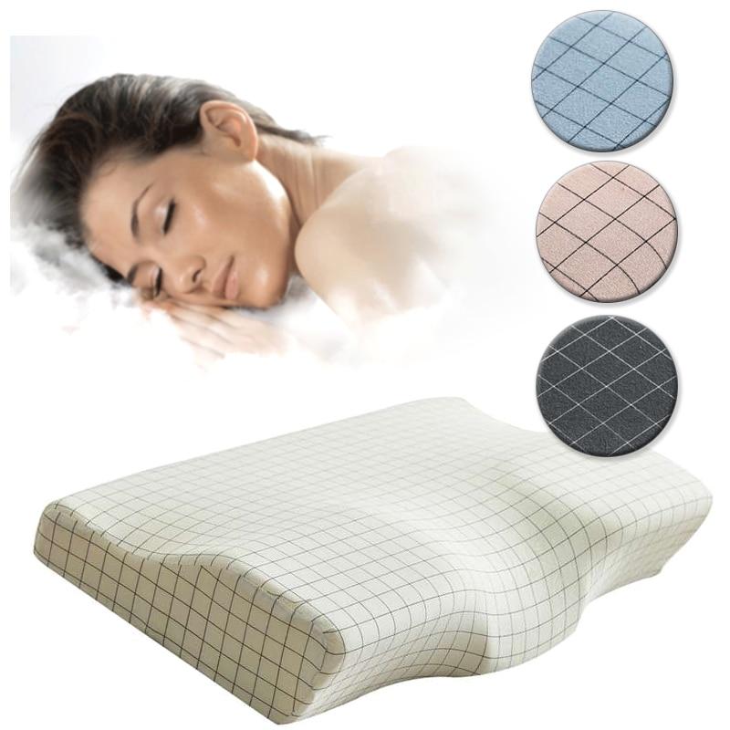 Lattice Butterfly Shaped Pillow Remedial Sleeping Head Neck Support Care Vertebrae Slow Rebound Memory Foam Orthopedic Pillow