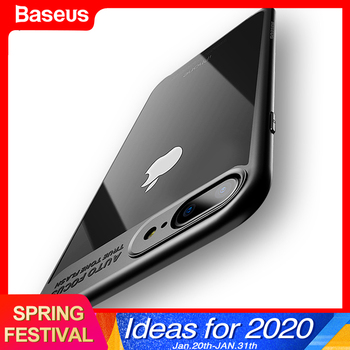 Baseus Luxury Case For iPhone X 7 6 s Ultra Thin Capinhas PC & TPU Silicone Cover Case For iPhone 7 6 s 6s Plus Coque Fundas