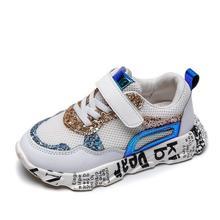 Детская спортивная обувь; сезон весна; Новинка; модная дышащая сетчатая обувь для мальчиков и девочек; противоскользящие кроссовки для маленьких детей; кроссовки для бега