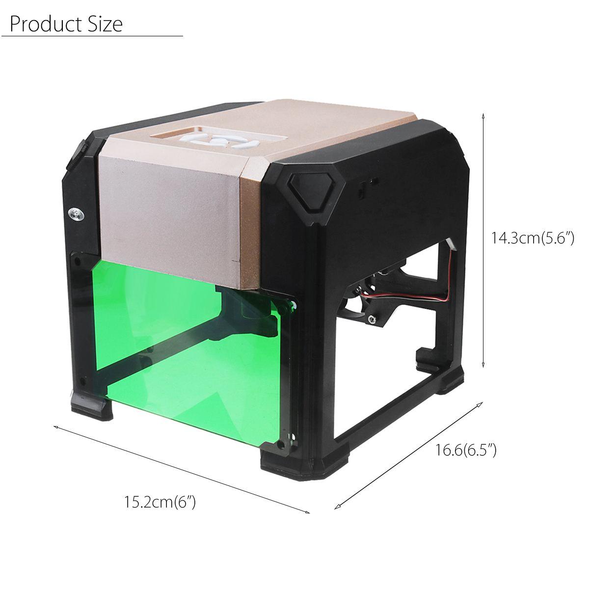 3000 mW CNC Laser Engraver DIY Logo Mark Printer Laser Engraving Carving Machine for FOR Windows for Mac OS System 6