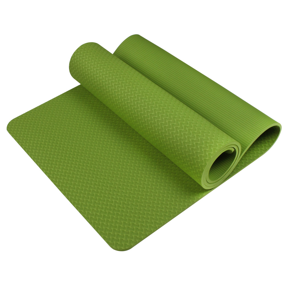 HOT  Tapete De Yoga Sem Deslizamento 6mm Tpe Esporte Yoga Esteira De Fitness Pilates Ginástica Alargamento Espessamento Almofada