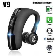V9 fones de ouvido bluetooth sem fio handsfree fone de ouvido de negócios com mic drive chamada esportes para smartphone