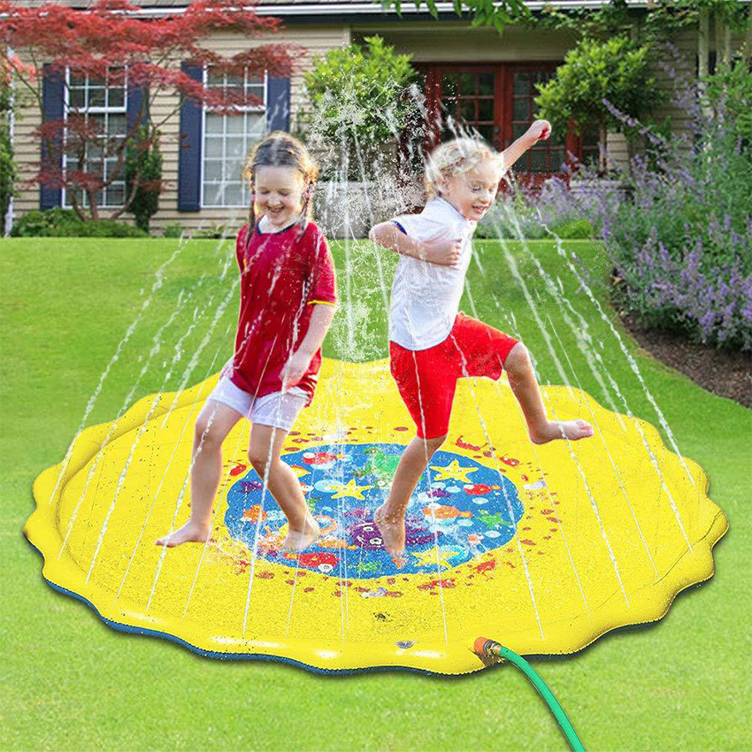 Rooxin Baby Kids Water Mat Playing Games Water Column PVC Fountain Float Pool Spray  Outdoor Tub Swimming Pool Toys Summer Party