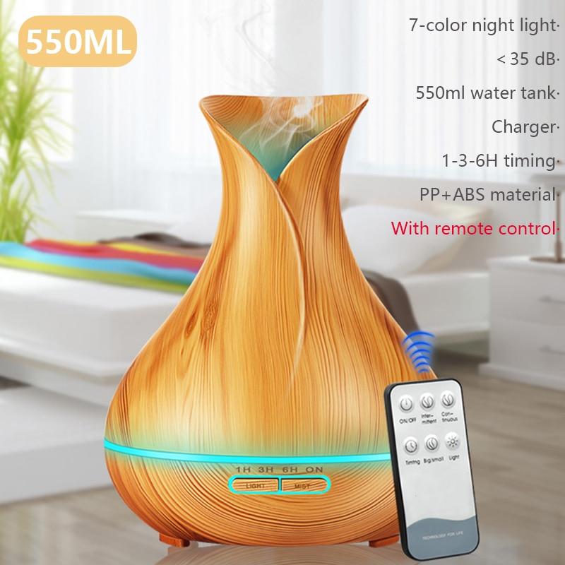 550ML aromaterapia ultradźwiękowa olejek eteryczny do nawilżacza dyfuzor-oczyszczacz powietrza Home Mist Maker rozpylacz zapachów LED Light