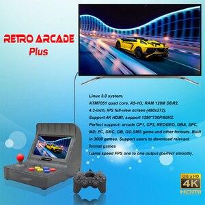 Image 4 - חדש רטרו ארקייד HDMI וידאו משחקי קונסולה ניידת HD טלוויזיה רטרו משחק מיני כף יד משפחת ג ויסטיק מובנה 3000 משחקי משלוח מתנה