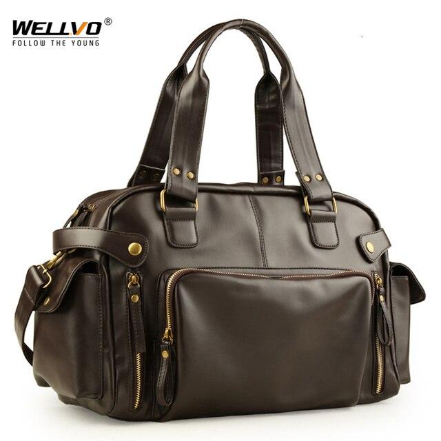 Male Bag England Retro Handbag Shoulder Bag Leather Men Big Messenger Bags Brand High Quality Men's Travel Crossbody Bag XA158ZC 1