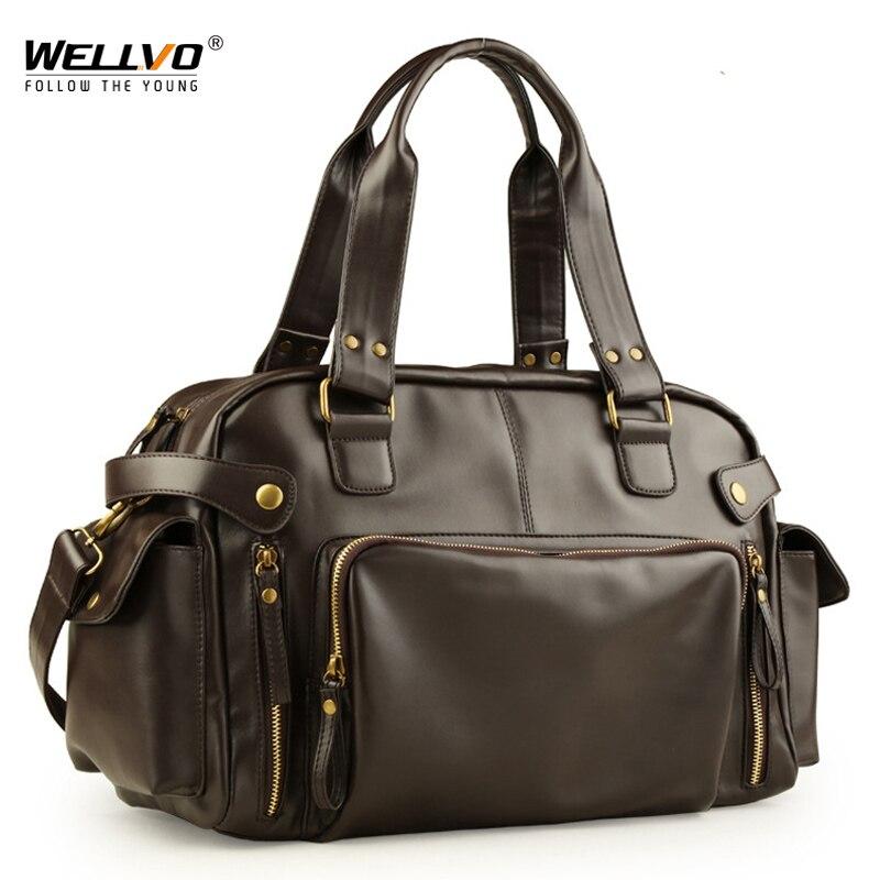 Male Bag England Retro Handbag Shoulder Bag Leather Men Big Messenger Bags Brand High Quality Men's Travel Crossbody Bag XA158ZC|Travel Bags| - AliExpress