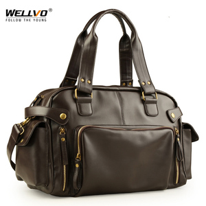 Image 1 - Male Bag England Retro Handbag Shoulder Bag Leather Men Big Messenger Bags Brand High Quality Mens Travel Crossbody Bag XA158ZC