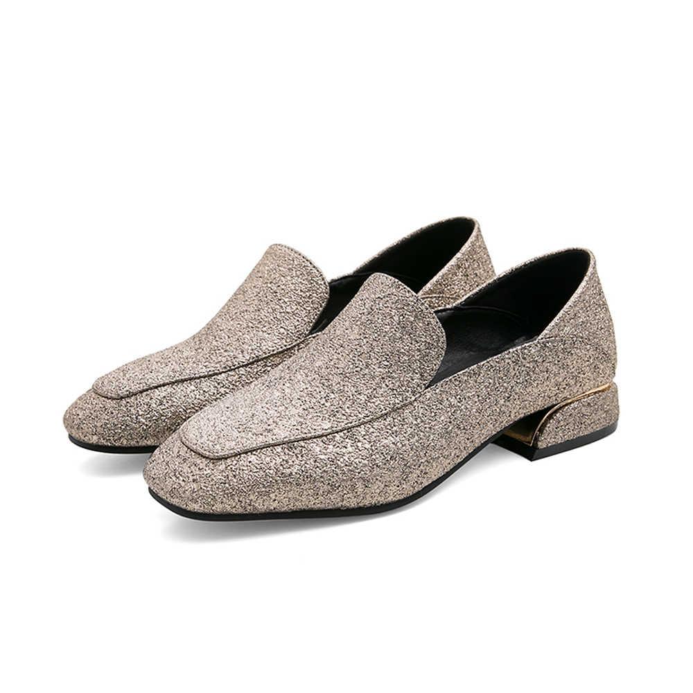 EUR34 ~ 45 loafers ผู้หญิงสุภาพสตรีรองเท้าแบน Zapatos De Calzado Mujer Chaussures Femme Sapato Feminino Buty Damskie Flats