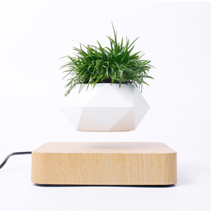 Image 4 - Magnetic suspension flower pot Levitating Air Bonsai Pot plant pot succulent pot patio decoration Desktop Flower/Green Plant