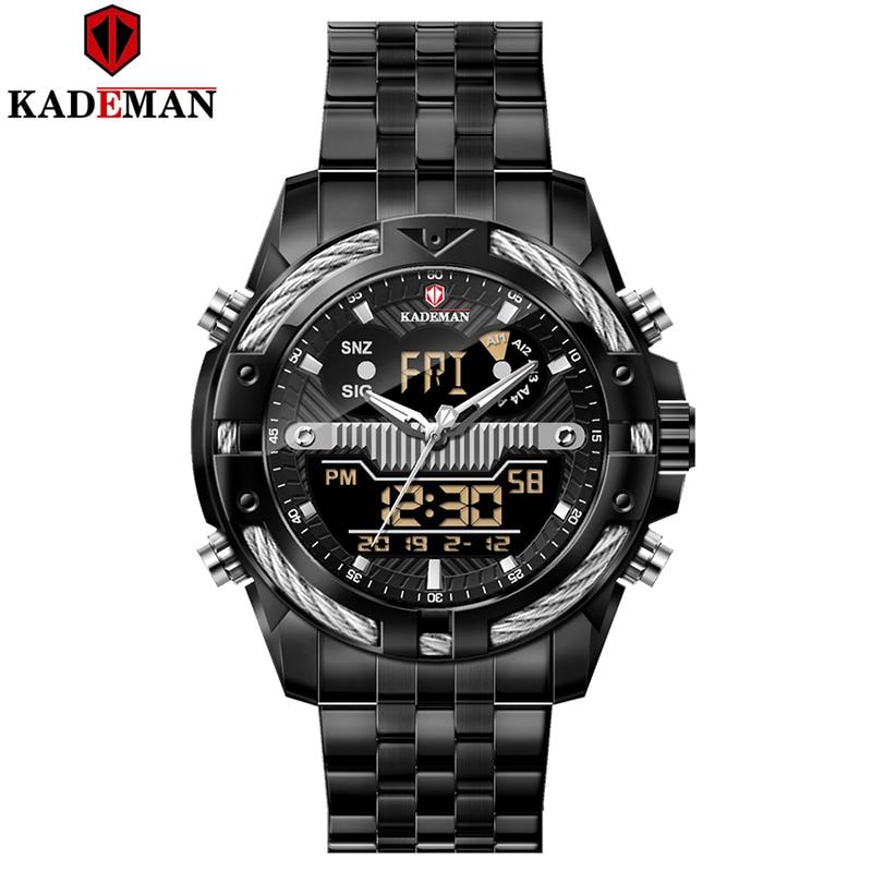 Kademan 2020 New Mens Watches Top Brand Luxury Stainless Steel Waterproof Quartz Watch Men Sports Watch Relogio Masculino K9076