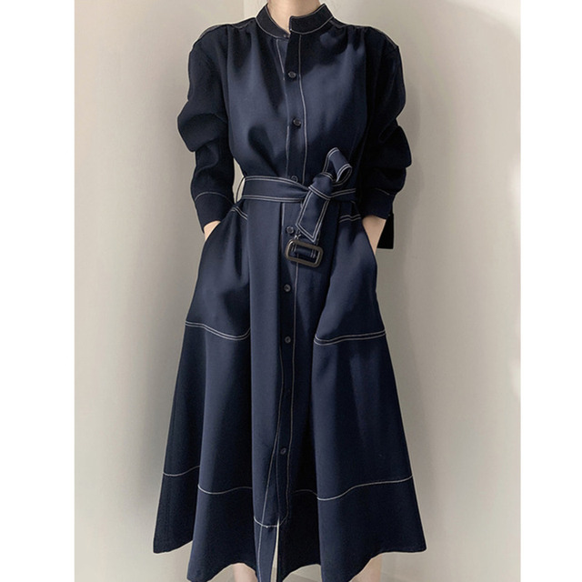 [EWQ] 2021 Spring New Long Sleeve Simple And Fashionable Ladies Coat Plus Size Casual Ladies Trendy Clothing Women's Windbreaker 1