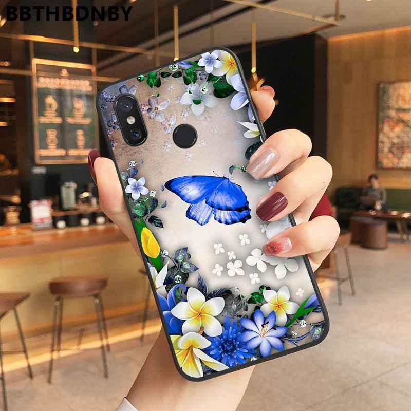 Xiaomi mi9 estojo TPU ソフトシリコン黒電話バンパー xiaomi 8 9 se Redmi 6 6pro 6A 4 × 7 注 5 7