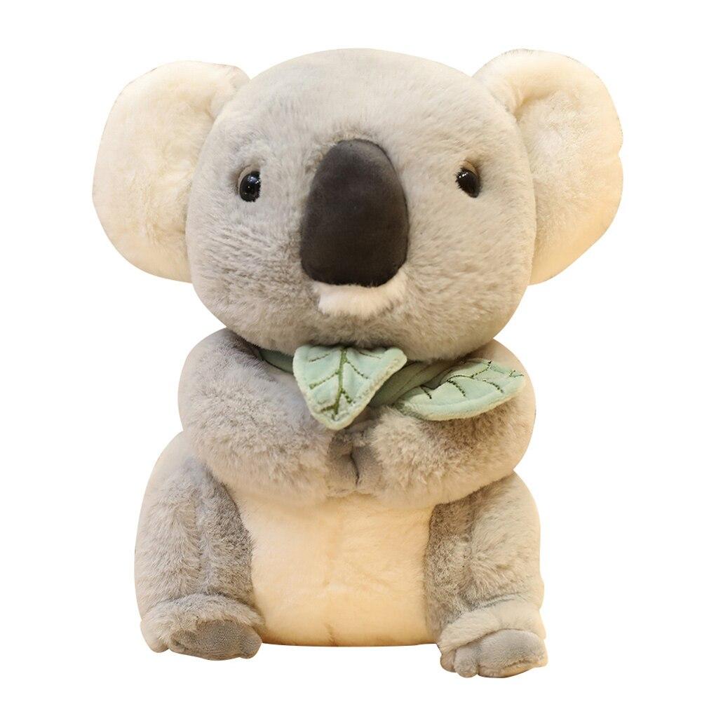 30cm x 15cm x 10cm Simulation Koala Eating Leaf Stuffed Doll Plush Animal Toy Kids Birthday Perfect Gifts