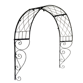 Outdoor arch flower rack European arched gardening plant climbing frame grid garden iron