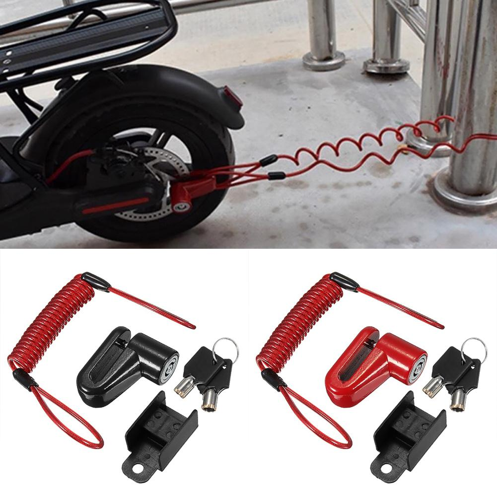 Good Quality Bicycle Bike Disc Brakes Wheels Durable Strong Anti-theft Security Metal Wire Lock Boutique Antivol Motor