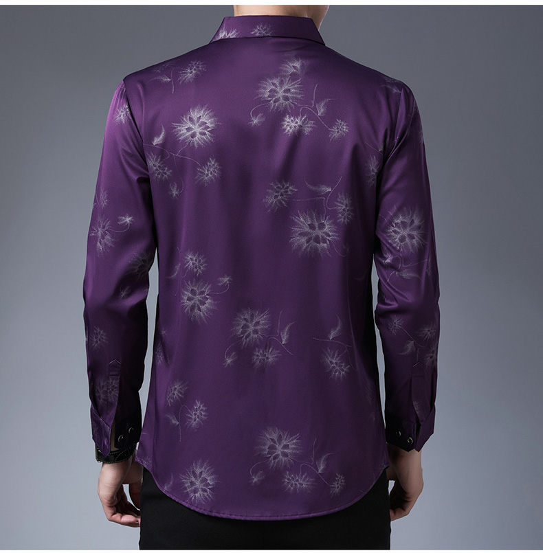 H09e13285e8c84160bab1a3a82a2e1173b 2020 Brand Long Sleeve Men Social Shirt Streetwear Casual Dandelion Shirts Dress Mens Slim Regular Fit Clothes Fashions 80503