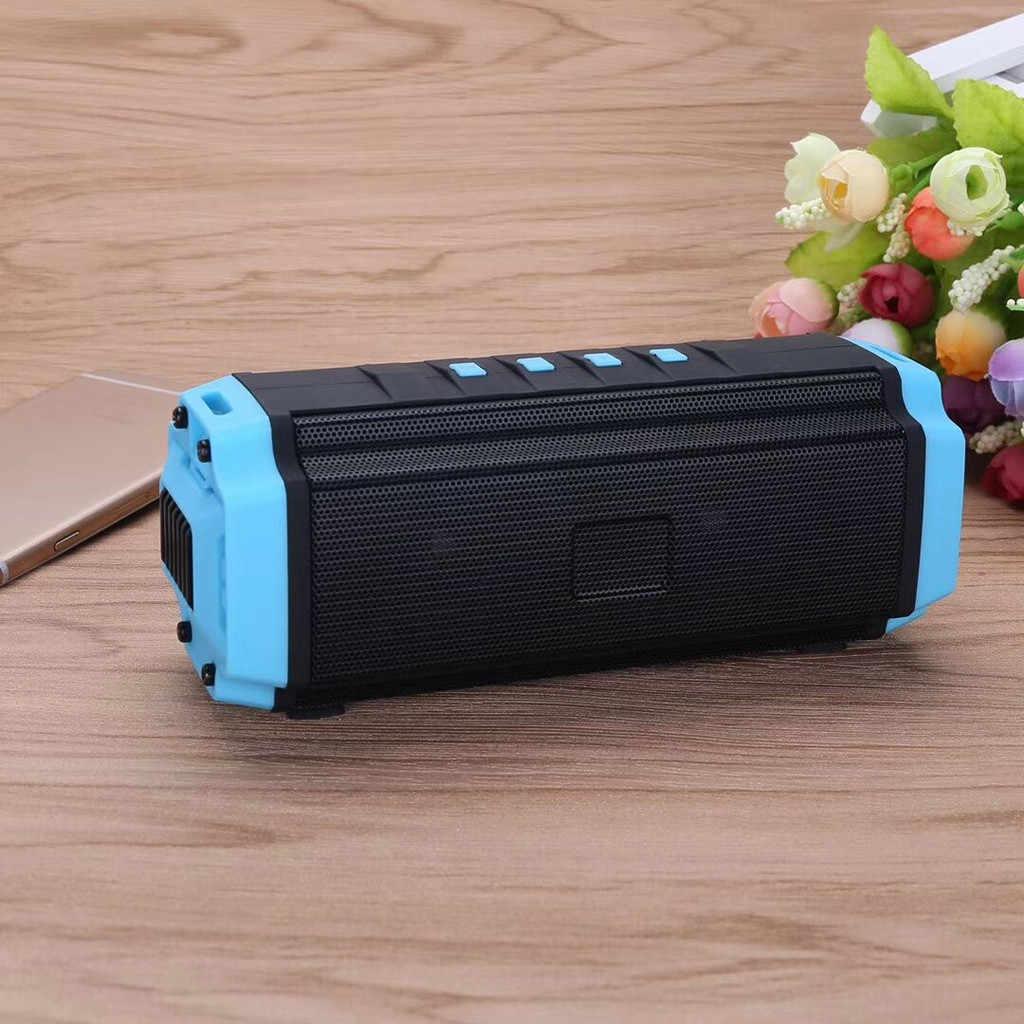 HIPERDEAL głośnik Bluetooth Subwoofer Stereo podwójny głośnik FM mikrofon USB przenośny głośnik, odbieranie połączeń w trybie głośnomówiącym
