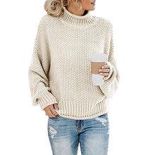 Camisola do sexo feminino 2020 outono inverno de malha camisola feminina pulôver tricot jérsei jumper femme gola alta roupas