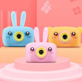 Aparat fotograficzny dla dzieci aparat cyfrowy HD 2 calowy aparat fotograficzny dla dzieci zabawki prezent urodzinowy dla dzieci 1600w aparat zabawki dla dzieci tanie i dobre opinie tzn flytoy RUBBER CN (pochodzenie) 3 lat Zabawki kamery 2x - 7x HD (1280x720) 4 3 inches 18-55 mm 10 0 - 20 0MP SD Card