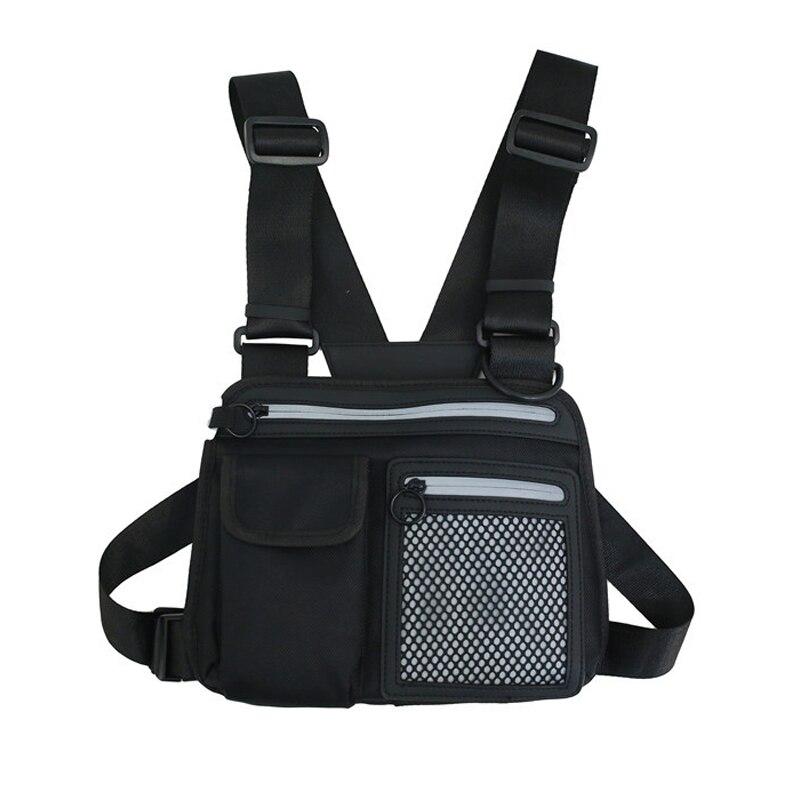 Hip-hop Men Chest Bags Tactical Chest Rig Bag Man Reflective Functional Vest Pack Male Streetwear Abdomon Pack Strap Waist Bags