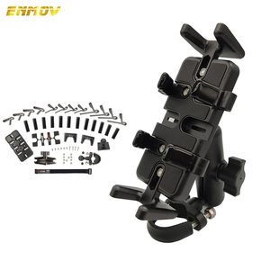 Image 1 - Super Strong Shockproof Handlebar Motorcycle Phone Holder Support Walkie Talkie Holder For GPS Bicycle Phone Holder ADV Holder