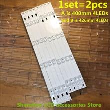 """Tira de retroiluminação led, 8 peças, 825mm, 8leds para lg 42 polegadas, tv, innotek drt, 3.0 42 """", 6916l 1709b 1710b 1957e 103e 6916l 103a"""