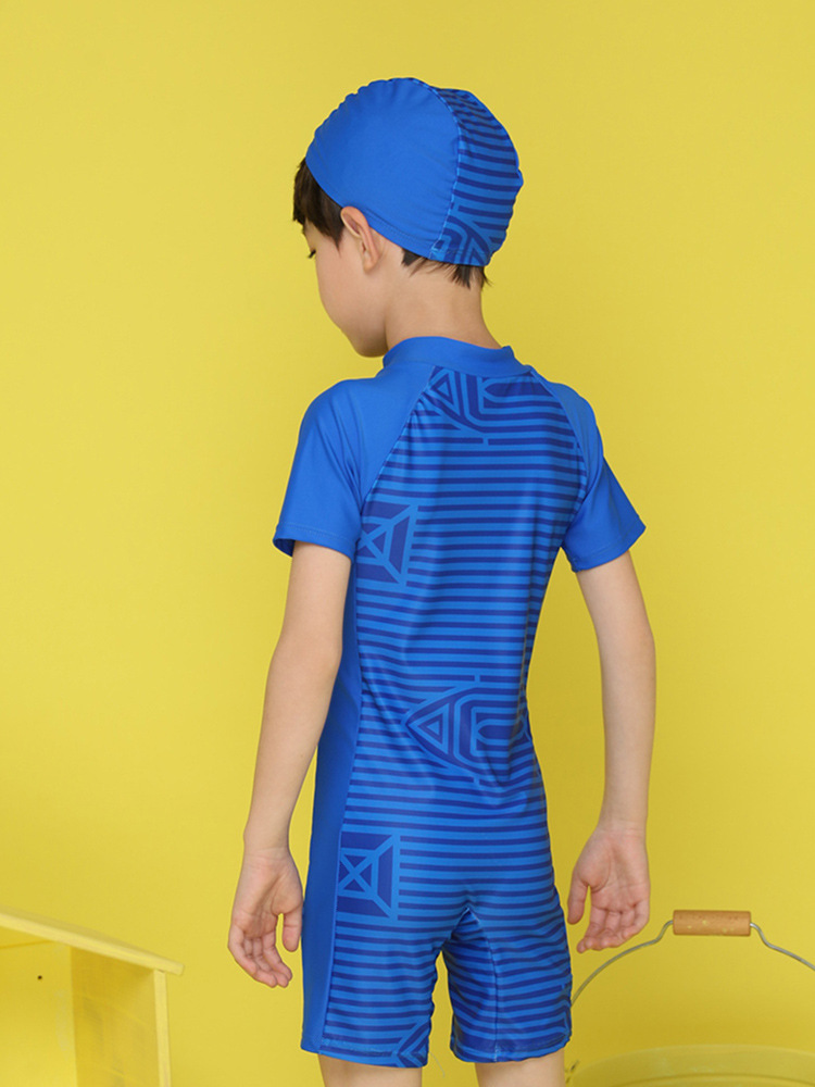 KID'S Swimwear Big Boy BOY'S One-piece Swimming Trunks Set Boy Tour Bathing Suit Teenager Sun-resistant Quick-Dry Swimwear