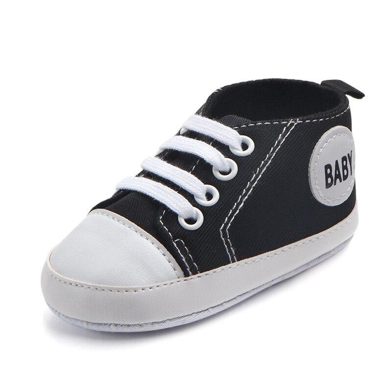 Chaussures bébé Garçon Fille Solide Sneaker Coton Doux Semelle Antidérapante Nouveau-Né Infantile Premiers Marcheurs Bambin décontracté Sport Chaussures de Berceau 40