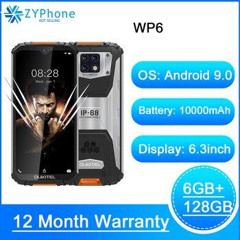 """OUKITEL WP6 6G RAM 128G ROM 6.3""""19.5:9 Screen Mobile Phone MT6771T Octa Core Waterproof 10000mAh Battery 48MP Camera Smartphone"""