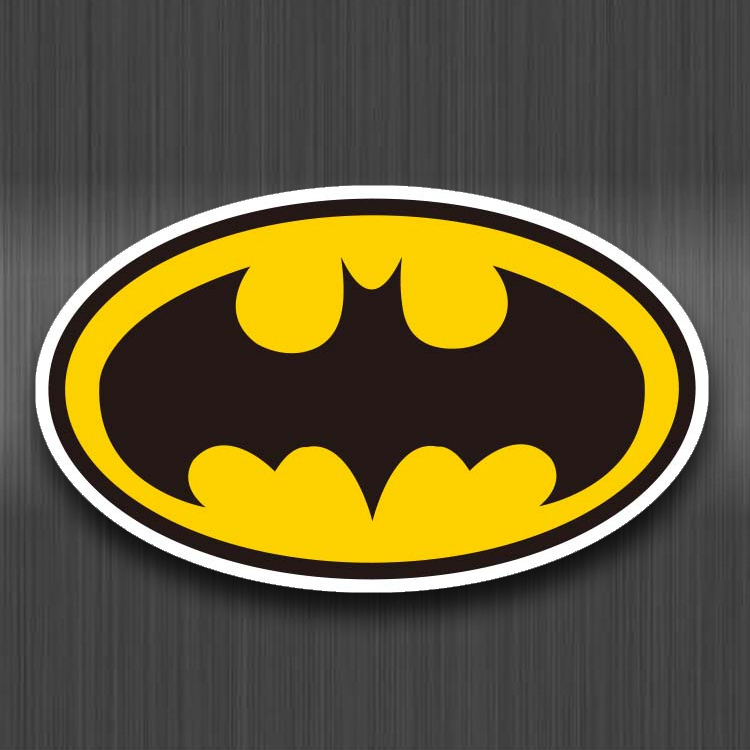Batman Sign Waterproof PVC Stickers For Kids Luggage Laptop Skateboard Car Bicycle Fridge Graffiti Cartoon Sticker