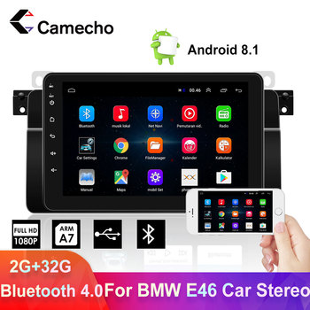 Camecho Car Radio 2 Din Android 8.1 Car Radio Multimedia Player 2din Bluetooth Car Stereo For BMW E46 Car Autoradio Navigatior image