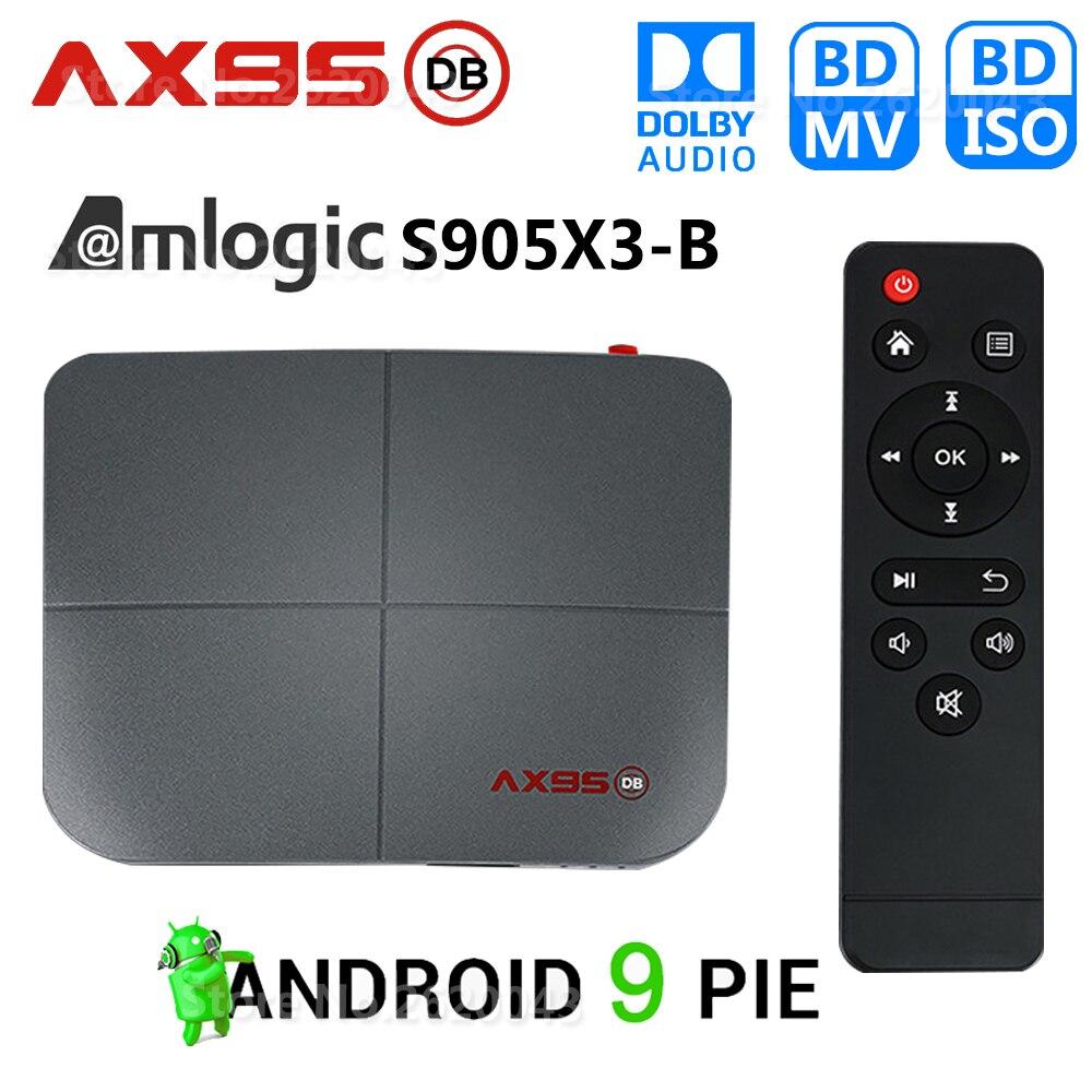 AX95 DB Amlogic S905X3-B Smart Android 9 0 TV Box 4GB RAM 32GB 64GB 128GB ROM 4K HD Set top Box support Dolby Blu-ray BD MV ISO