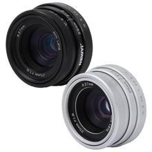 NEWYI lente óptica de gran angular para Sony, lente óptica de 25mm F1.8 Mini CCTV C para cámara DSLR Canon