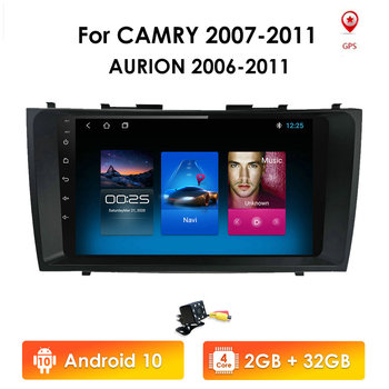 Android head unit 4G in Dash Car Radio Multimedia Video Player Navigation GPS For Toyota Camry 6 XV 40 50 2006-2011 no dvd 2 din image