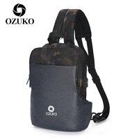 OZUKO Männer Hohe Qualität Rucksack Reise Schlinge Brust Taschen Mann Multi-Funktionale Schulter Tasche Männlichen Rucksack Kleine Rucksack 2021 neue
