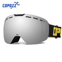 COPOZZ professional ski goggles Men Women Snowboard glasses 2s quick interchangelens Anti-fog Skiing Glasse Ski Mask